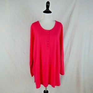 Woman Within Hot Pink Tee Shirt Size 18 / 20